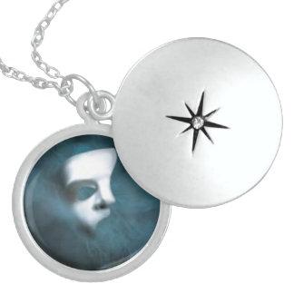 Locket redondo fantasma da prata esterlina da colar de prata esterlina