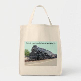 Locomotiva 2124 da estrada de ferro da leitura de bolsa tote