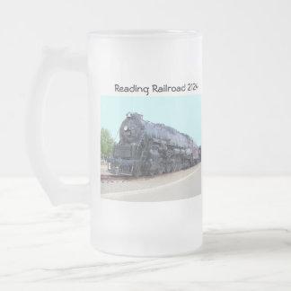 Locomotiva 2124 da estrada de ferro da leitura de caneca de cerveja vidro jateado