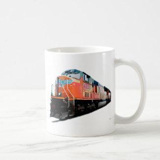 Locomotiva da estrada de ferro caneca