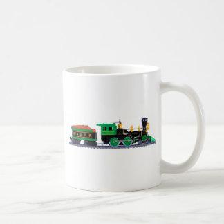 Locomotiva da estrada de ferro caneca de café