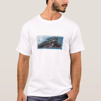 Locomotiva de vapor do vintage camisetas