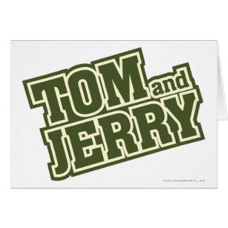 Logotipo 3 de Tom e de Jerry Cartão Comemorativo