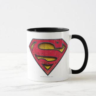 Logotipo afligido | do S-Protetor do superman Caneca