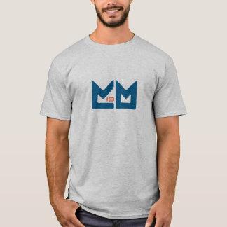 Logotipo - azul com laranja t-shirts