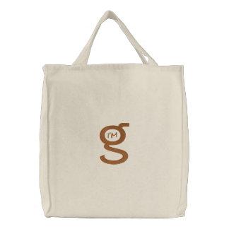 Logotipo bordado da coca de w da bolsa (Brown)