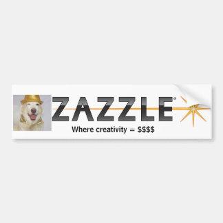 Logotipo Bumpersticker de Zazzle Adesivo Para Carro