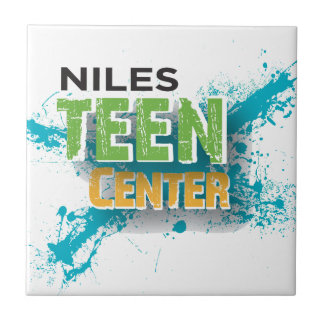 Logotipo Center adolescente de Niles Azulejo Quadrado Pequeno