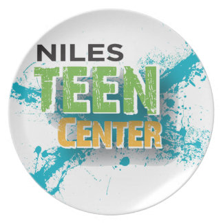 Logotipo Center adolescente de Niles Louça De Jantar
