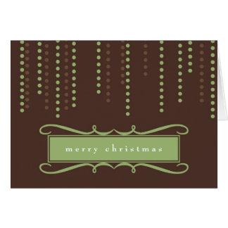 Logotipo chique do negócio do feriado do Natal dos Cartão