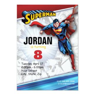 Logotipo clássico do superman | da história em convite 12.7 x 17.78cm
