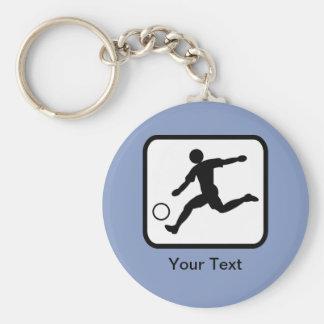 Logotipo customizável do jogador de futebol (jogad chaveiros