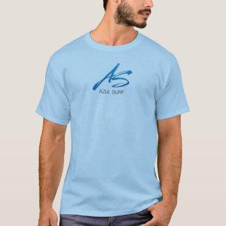 logotipo da escova do surf do azul - duas vezes o t-shirt