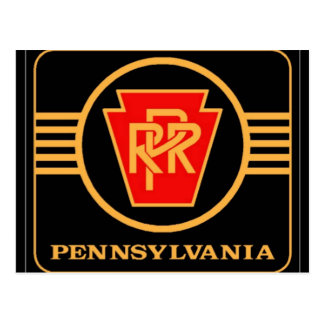 Logotipo da estrada de ferro de Pensilvânia, preto Cartão Postal