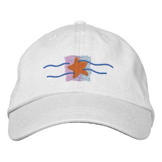Logotipo da estrela do mar chapéus bordados