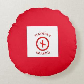 Logotipo da lareira de Nanna & travesseiro de Almofada Redonda