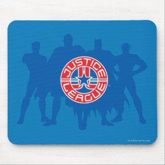 Logotipo da liga de justiça e fundo contínuo do ca mouse pad