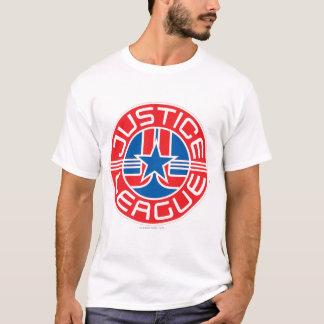 Logotipo da liga de justiça t-shirt