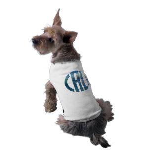 Logotipo da onda do círculo de Cali (escuro) Camisa Sem Mangas Para Cachorro