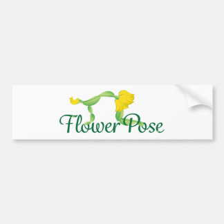 Logotipo da pose da flor adesivo para carro