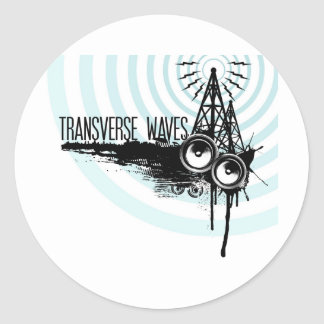Logotipo das ondas transversais adesivo
