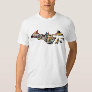 Logotipo de Batman 75 - cobrir cómicos T-shirts