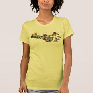Logotipo de Batman 75 - cobrir cómicos Tshirt