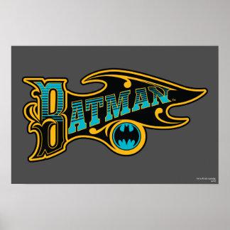 Logotipo de Batman do vintage Poster