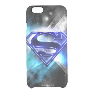 Logotipo de cristal branco | azul estilizado do capa para iPhone 6/6S clear