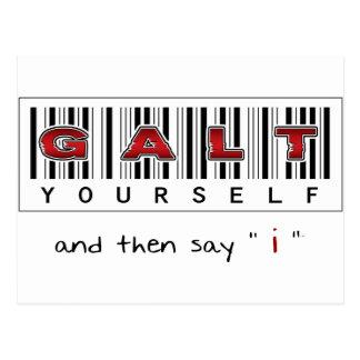 Logotipo de GALT VOCÊ MESMO Cartão Postal