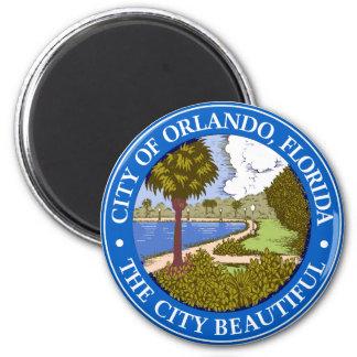 Logotipo de Orlando, Florida Ímã Redondo 5.08cm