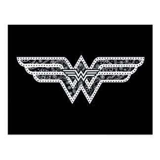 Logotipo de Paisley da mulher maravilha Cartão Postal