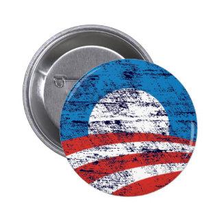 Logotipo desvanecido de Obama Botons
