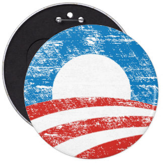 Logotipo desvanecido de Obama Bóton Redondo 15.24cm