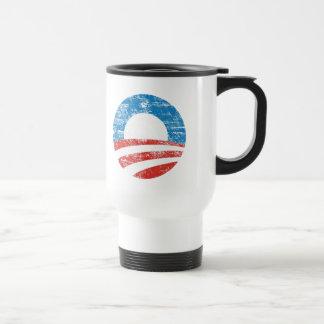 Logotipo desvanecido de Obama Canecas