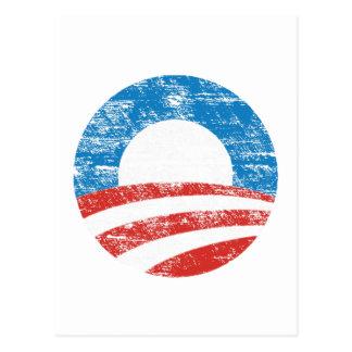 Logotipo desvanecido de Obama Cartão Postal