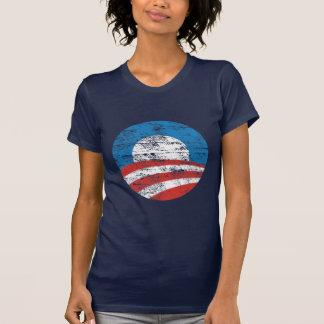 Logotipo desvanecido de Obama Camisetas