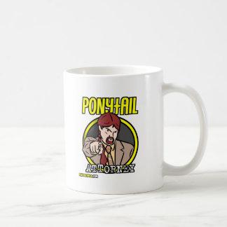 Logotipo do advogado do rabo de cavalo caneca de café