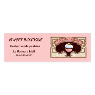 Logotipo do cartão de visita do rosa do Couture do