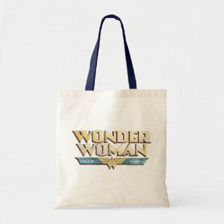 Logotipo do lápis da mulher maravilha bolsa tote