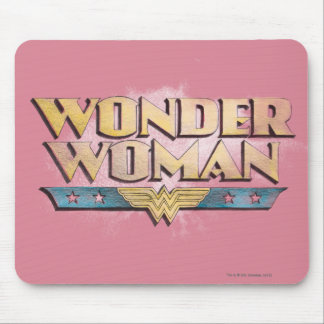Logotipo do lápis da mulher maravilha mouse pad