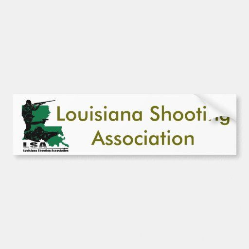 Logotipo do LSA, associação do tiro de Louisiana Adesivo