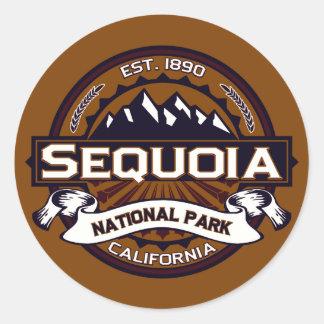 Logotipo do parque nacional de sequóia adesivo