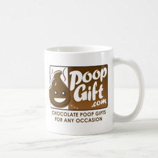 Logotipo do presente do tombadilho pequeno caneca de café