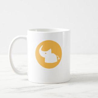Logotipo do rinoceronte caneca de café