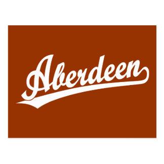 Logotipo do roteiro de Aberdeen no branco Cartão Postal