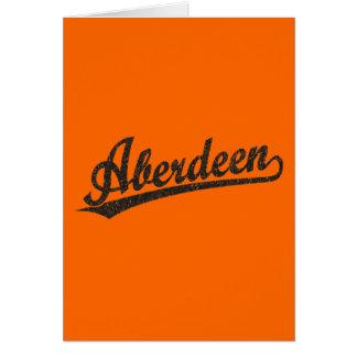 Logotipo do roteiro de Aberdeen no preto afligido Cartão Comemorativo