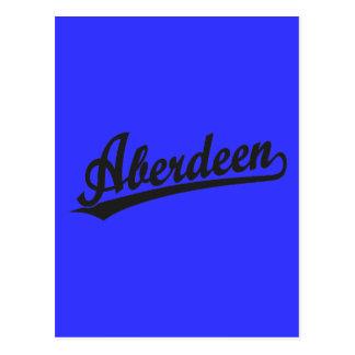 Logotipo do roteiro de Aberdeen no preto Cartão Postal