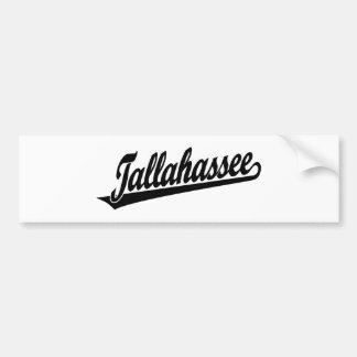 Logotipo do roteiro de Tallahassee no preto Adesivo Para Carro