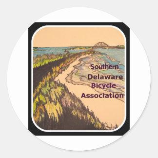 Logotipo do sul da associação da bicicleta de adesivo